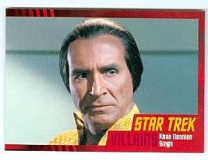 Riacrdo Montalban trading card Star Trek Villans #39 Rittenhouse 2013 KHAN