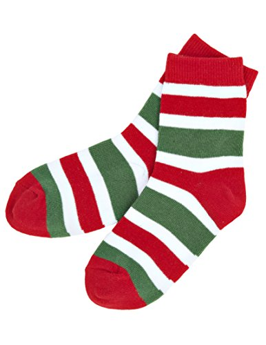 Candy Cane Kids Crew Socks - L (4-7) back-948624