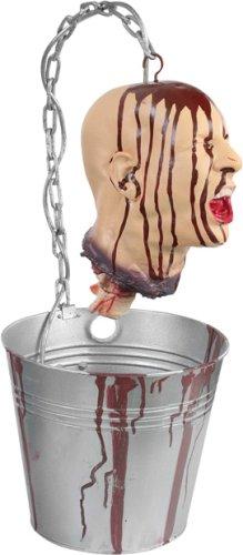 Scary Bleeding Head In Bucket Prop