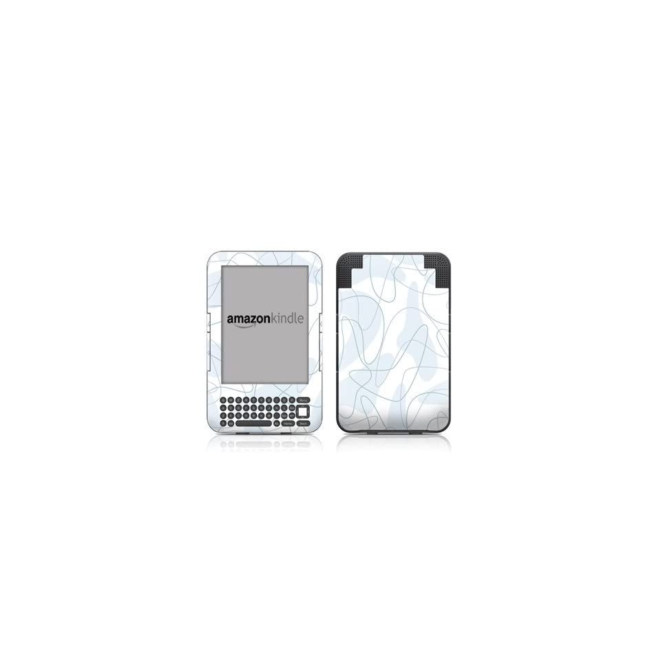 Boomerang Blue Design Protective Decal Skin Sticker for  Kindle Keyboard / Keyboard 3G (3rd Gen) E Book Reader   High Gloss Coating