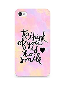 AMEZ to think of you is to smile Back Cover For Apple iPhone 4