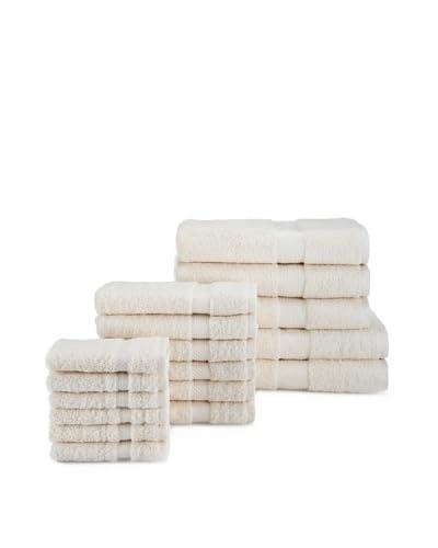 Chortex of England Rhapsody Royale 17-Piece Towel Set, Oyster