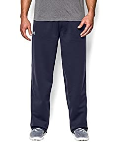 Under Armour Men's Armour® Fleece Open Bottom Team Pants Small Midnight Navy