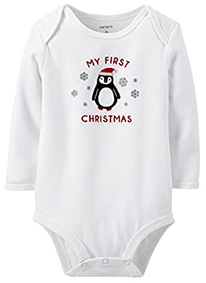 Unisex Baby's First Christmas Bodysuit by Carter's