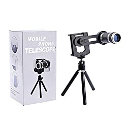 Fengfanglin 8X Zoom Universal Mobile Phone Telescope Camera Lens & Tripod + Adjustable Holder (Random Colours)