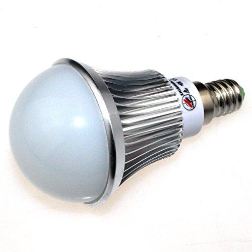 Zhishunjia E14 8W 680Lm 6000K 16 X Smd 5630 Led White Light Lamp Bulb - Silver + White (85~265V)