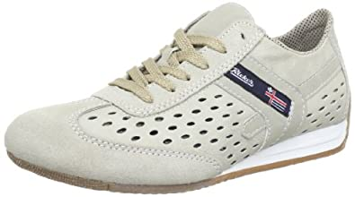 Rieker L9026, Damen Sneakers, Beige (nebel/muschel/champignon / 61), 36 EU (3.5 Damen UK)
