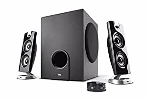 Cyber Acoustics 30 Watt Powered Speakers with Subwoofer for PC and Gaming Systems in Standard Packaging, (CA-3602a)