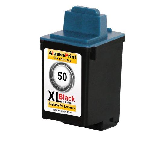 Sparangebot 1x Druckerpatrone Tintenpatrone Ersatz für Lexmark 50 XL (1x Black ) Ink Cartridge Original Wianaserie