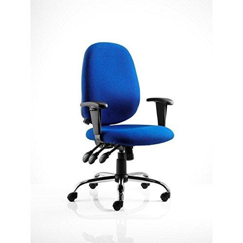 dinamica OP000074tessuto Lisbona direzionale sedia con braccioli, colore blu