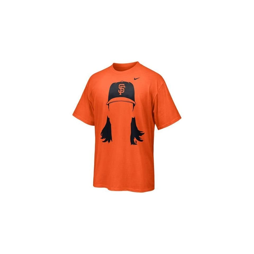 Tim Lincecum San Francisco Giants Hair T Shirt (Orange)