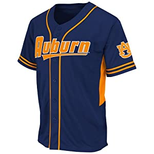 NCAA Auburn Tigers Men's Bullpen Baseball Jersey, X-Large, Navy