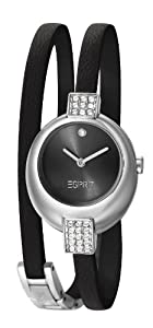 Esprit Bubble Women's Quartz Watch with Black Dial Analogue Display and Black Leather Strap ES105662001