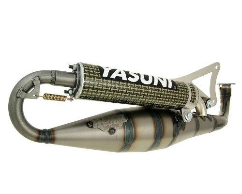 Auspuff-Yasuni-Carrera-16-gelb-Carbon-fr-Yamaha-Aerox-50-98