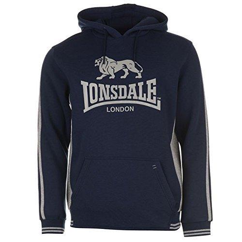 Lonsdale Felpa Con Cappuccio Uomo Pullover Con Cappuccio - blu marino/grigio, XXL, poliestere