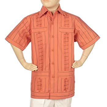 Stripped guayabera shirts for boys.