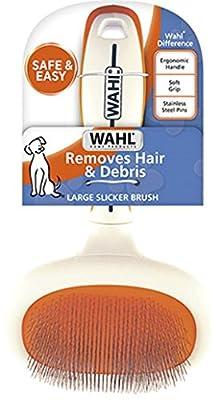 Wahl 858407 Large Slicker Brush, Orange/White