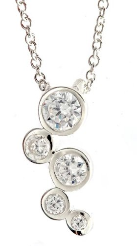 Sterling Silver Bubbles Pendant Necklace 24