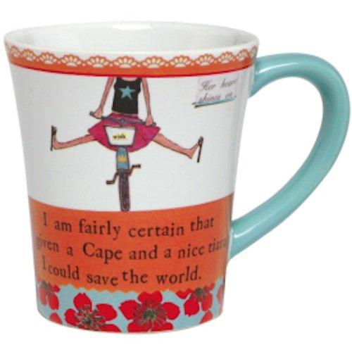 Curly Girl Ceramic Mug- I Am Fairly Certain - with Gift Box