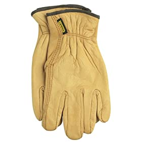Stanley Hand Helpers Cowhide Leather Work Gloves - Large #5418-01
