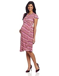 Everly Grey Women's Maternity Uma Wrap Dress, Sicily Print, Small