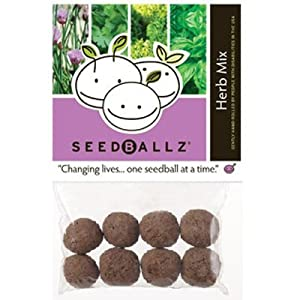Seedballz Herb Mix - Grow a delicious herb garden using these (seed balls). Seed Ballz Herb seeds grow quickly and easily! Seeds include: Parsley, Basil, Thyme & Chives!