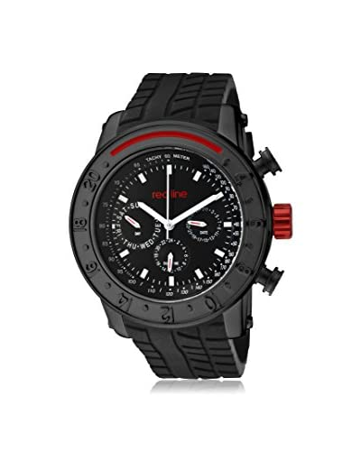 red line Men's RL-10121 Tread Black Silicone Watch