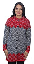 Romano Grey Winter Wool Coat Sweater for Women
