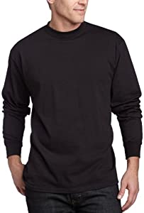 Soffe Men's Men'S Long Sleeve Cotton T-Shirt,Black,LGE