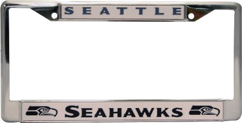NFL-Seattle-Seahawks-Chrome-Licensed-Plate-Frame
