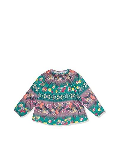 CUSTO GROWING Blusa Kanday Lily Verde / Rosa