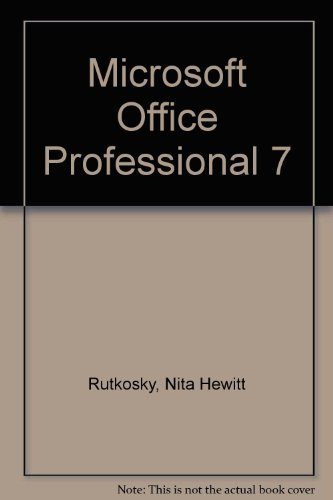 Microsoft Office Professional 7
