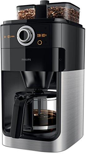 Philips-HD776600-Cafetire-filtre-programmable-noir-et-mtal-avec-broyeur-intgr-pour-un-caf-frachement-moulu-2-compartiments--grains-1000W