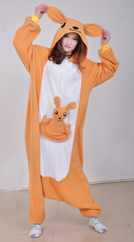 Kangaroos Polar Fleece Women'S Fashionable Design Costume (Size S) front-962933