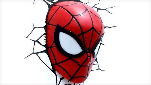 3d Deco Superhero Wall Lights Review : 3D Light FX Marvel Spider-Man 3D Deco LED Wall Light Quality Lighting Express