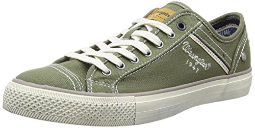 WranglerSTARRY LOW CANVAS - Scarpe da Ginnastica Basse Uomo , Verde (Grün (20 MILITARY)), 45