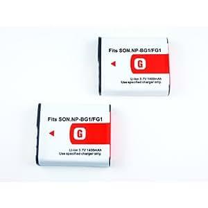 SONY NP-BG1/FG1 互換バッテリー 2個セット 3.7V 1400 mA