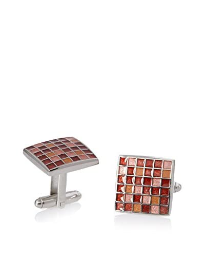 L2 by LOMA Red Mosaic Checker Board Cufflinks