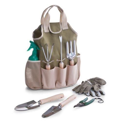 Zeller 16001  Garten-Set mit Tasche, Polyester/Metall/Holz, 9-teilig, 28 x 18 x 41 cm