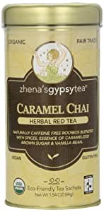 Zhena's Gypsy Chai Red Tea, Caramel, 22 Count