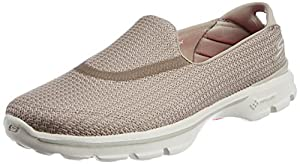 Skechers Performance Women's Go Walk 3 Slip-On Walking Shoe,Stone,7 M US