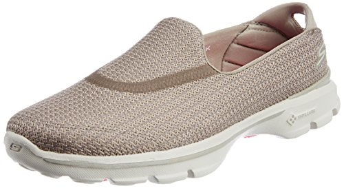 Skechers Performance Women's Go Walk 3 Slip-On Walking Shoe,Stone,6 M US