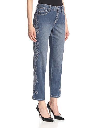NYDJ Women's Alisha Embroidered Ankle Jean