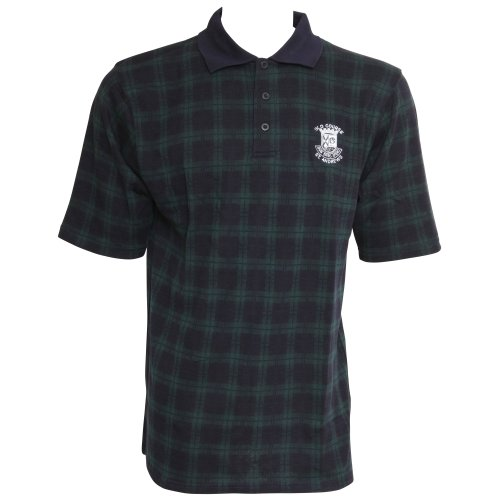Mens Old Course St Andrews Golf Short Sleeve Polo T-Shirt/Top (M - 38inch - 40inch) (Navy/Green)