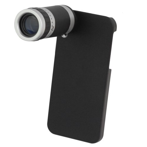Rhx New 8X Zoom Phone Telescope Camera Lens With Back Case For Apple Iphone 5 5G