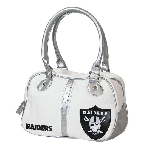 NFL Oakland Raiders Ethel Pebble Handbag, White at Amazon.com