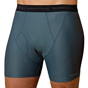 Exofficio Men's Give-N-Go Boxer Briefs M Charcoal