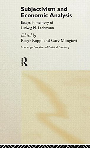 Subjectivism and Economic Analysis (Routledge Frontiers of Political Economy)