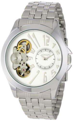 ADOLFO Men's 31020C Exhibition Back Auto Quartz Watch