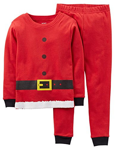 Carters Little Boys Santa Costume Pajama Set 6 Red front-1016279